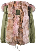Mr & Mrs Italy - Multi Pink Coyote fur lined parka - women - Cotton/Lamb Skin/Polyamide/Coyote Fur - XS