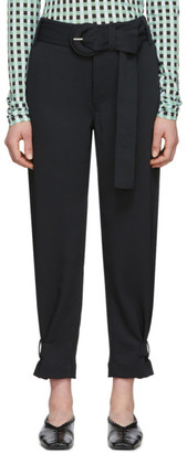 Proenza Schouler Black White Label Rumpled Belted Trousers