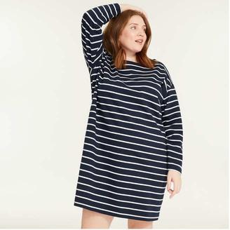 Joe Fresh Women+ Boatneck Dress, JF Midnight Blue (Size 3X)