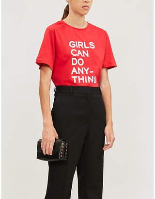 Zadig & Voltaire ZADIG&VOLTAIRE Bella Girls slogan cotton-jersey T-shirt