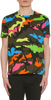 Valentino Men's Camo-Print Crewneck T-Shirt