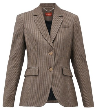 Altuzarra Fenice Striped Wool-blend Blazer - Womens - Brown