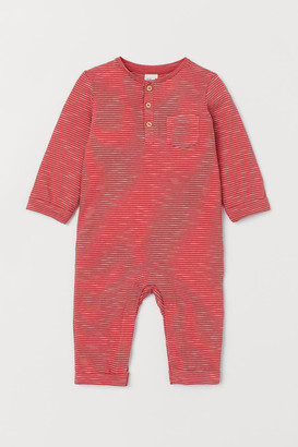 H&M Slub Jersey Jumpsuit - Red