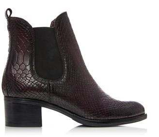 Moda In Pelle Colido Burgundy Mocc Croc