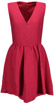 Maje Cloqué pleated mini dress