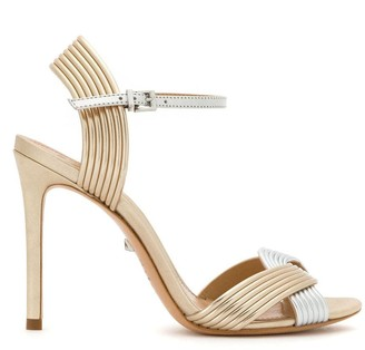 Schutz Ribbed-Style Strappy Sandals