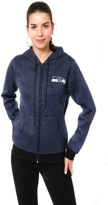 ICER Brands Adult Women Full Zip Hoodie Sweatshirt Marl Knit Jacket Team Color