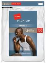 Hanes Premium Hanes® Premium Men's 6pk Comfort Tank - White