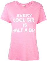 Natasha Zinko slogan print T-shirt - women - Cotton - XS