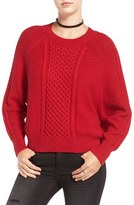 BP Women's Cable Knit Dolman Sweater