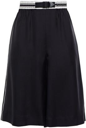 Rag & Bone Striped Silk-blend Satin-twill Shorts