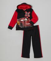 Children's Apparel Network Black & Red Cars Zip-Up Hoodie & Pants - Toddler