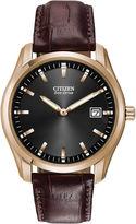 Citizen Eco-Drive Mens Brown Leather Watch AU1043-00E