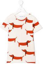 Mini Rodini dachshund print T-shirt