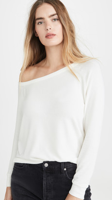 Enza Costa Peached Jersey Easy Off Shoulder Top