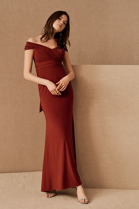 BHLDN Racine Off-the-Shoulder Maxi Dress By in Brown Size 4