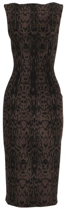 Alaia Animal Print Sheath Dress