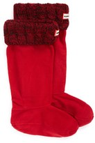 Hunter Women's Tall Cable Knit Cuff Welly Boot Socks
