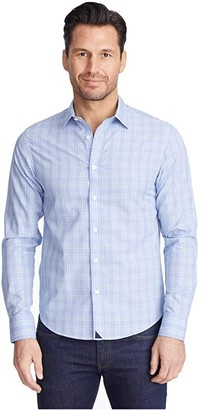 UNTUCKit Basano Wrinkle Free (Blue) Men's Long Sleeve Button Up