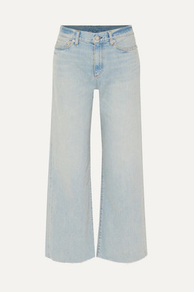 Simon Miller W006 Cropped High-rise Wide-leg Jeans - Light denim