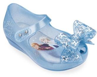 Mini Melissa Baby, Little Girl's & Girl's Ultragirl Frozen Bow Flats