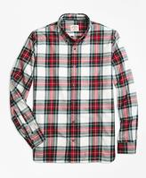 Brooks Brothers Royal Tartan Brushed-Cotton Flannel Sport Shirt