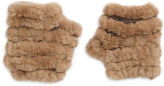 Jocelyn Faux Fur Knitted Mandy Mittens