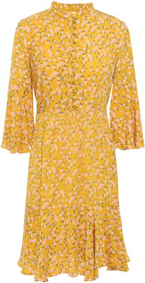 By Ti Mo Bytimo Ruffled Floral-print Crepe Mini Dress