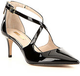 Louise et Cie Jena Patent Leather Criss Cross Pointed-Toe Pumps