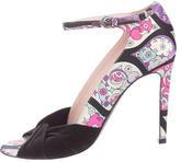 Emilio Pucci Printed Satin Sandals