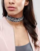 Aldo Stone Detail Bandana Choker Necklace