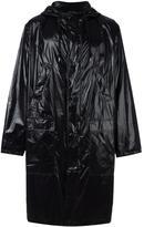 MSGM logo print raincoat