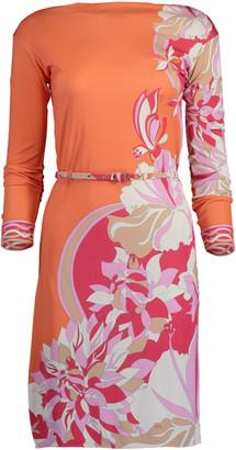 Emilio Pucci Vahne Print Boatneck Dress
