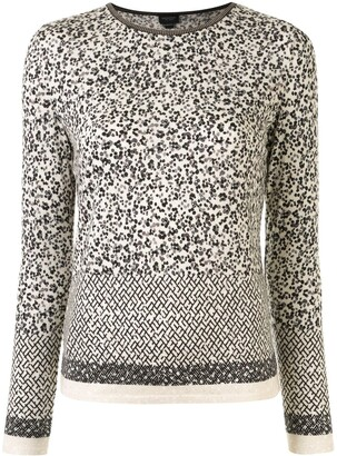 Giambattista Valli Geometric Dot-Print Sweater