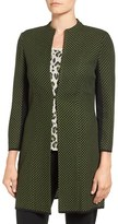 Ming Wang Women's Textured Knit Long Jacket