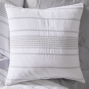 Coyuchi Organic Cotton Alpine White Rippled Stripe Euro Sham
