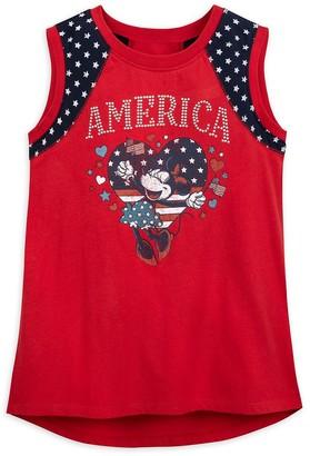 Disney Minnie Mouse America Tank Top for Girls Disneyland