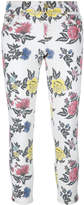 House of Holland roses print skinny jeans