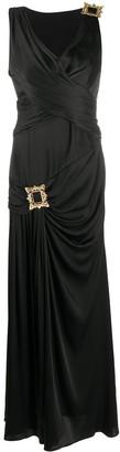 Moschino Gold-Tone Frame Detail Dress