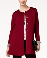 Alfani Petite Scuba Topper Jacket, Created for Macy's