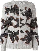 Brunello Cucinelli floral jacquard cardigan