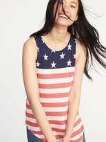 Old Navy High-Neck Flag-Graphic Swing Tank for Women