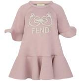 Fendi FendiGirls Pink Modal Ruffle Trim Dress