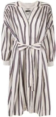 Frei Ea striped drop shoulder dress