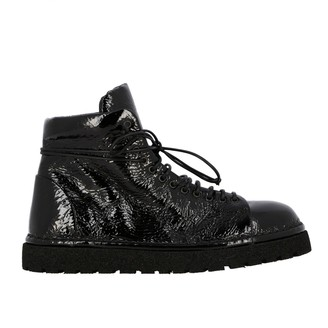 Marsèll Pedula Pumice Bullet Boot In Patent Leather
