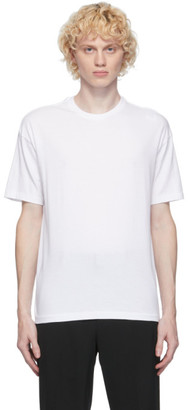 AURALEE White Cotton Seamless T-Shirt