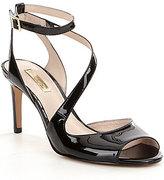 Louise et Cie Kealy Patent Peep-Toe Ankle Strap Dress Sandals
