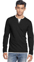 INC International Concepts Men's Layered Long-Sleeve Shirt, Created for Macy's