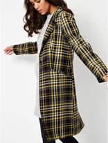 George Yellow Checked Longline Coat