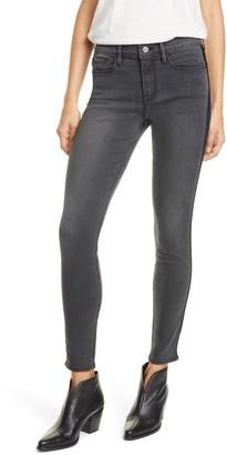 Frame Le Skinny de Jeanne Velvet Tuxedo Stripe Jeans